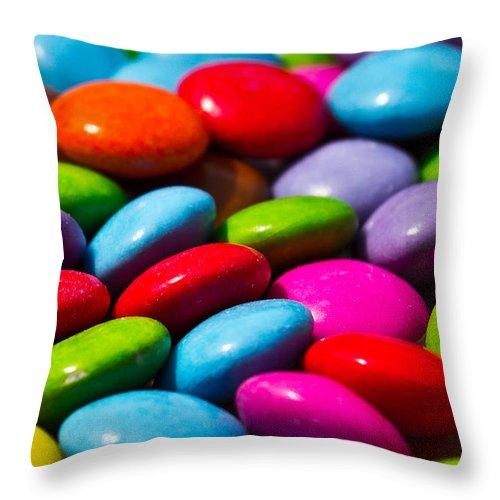 Negative Throw Pillow featuring the digital art Abstract Art by David Pyatt