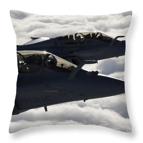 Evreux Throw Pillow featuring the photograph Dassault Rafale B Of The French Air by Gert Kromhout