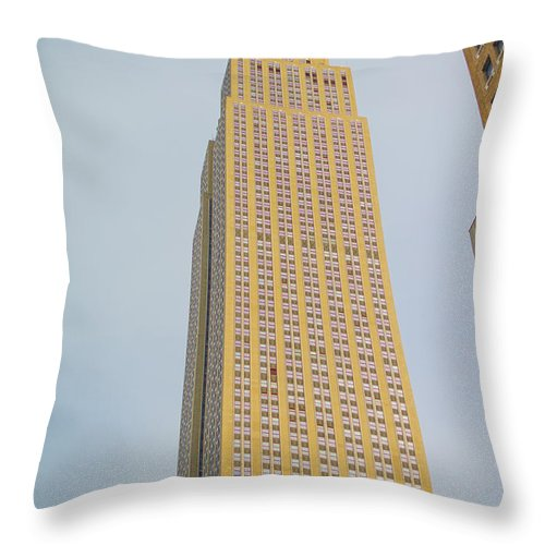 New York Throw Pillow featuring the photograph Empire State Building by Theodore Jones