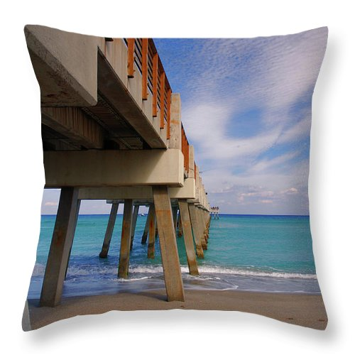 Juno Pier Throw Pillow featuring the photograph 4- Juno Pier by Joseph Keane