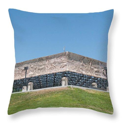 California Throw Pillow featuring the digital art La Brea Tar Pits by Carol Ailles