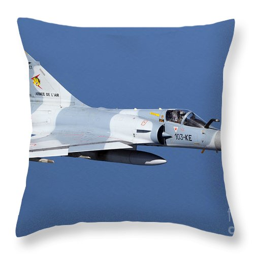 Evreux Throw Pillow featuring the photograph Mirage 2000c Of The French Air Force by Gert Kromhout