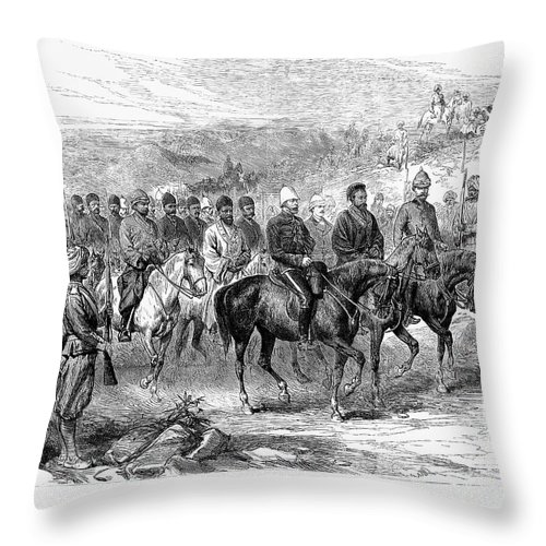 1879 Throw Pillow featuring the photograph Mohammed Yakub Khan by Granger