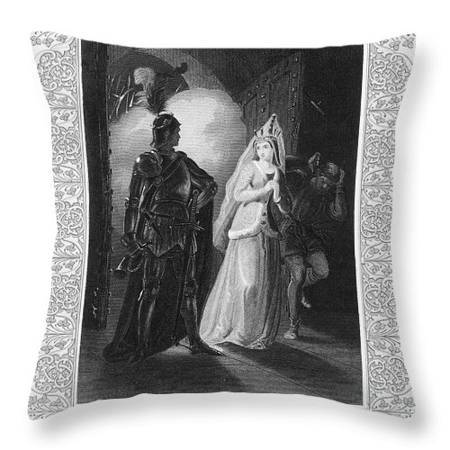 15th Century Throw Pillow featuring the photograph Shakespeare: Henry Vi by Granger