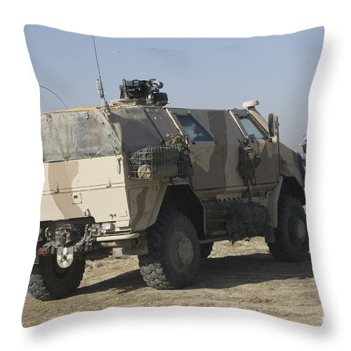 German Army Throw Pillow featuring the photograph The German Army Atf Dingo Armored by Terry Moore