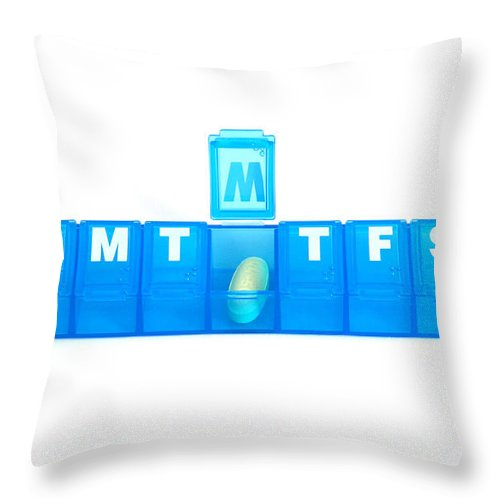 Weekly Pill Box Throw Pillow