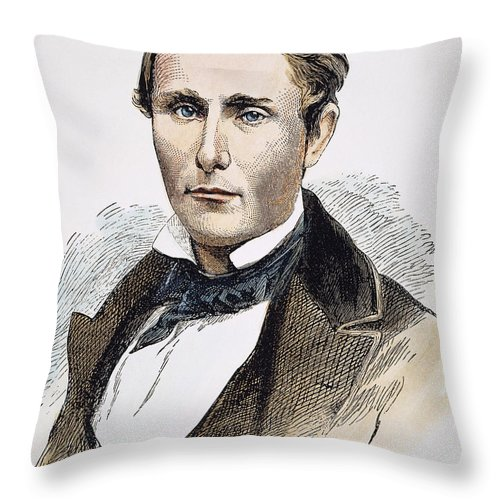 19th Century Throw Pillow featuring the photograph William Walker (1824-1860) by Granger
