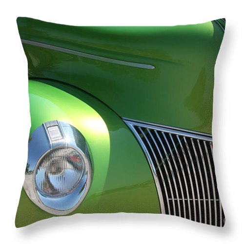 1940 Throw Pillow featuring the photograph 40 Ford - Front Pass Angle-8651 by Gary Gingrich Galleries