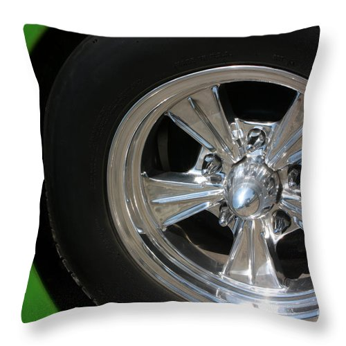 1940 Throw Pillow featuring the photograph 40 Ford-driver Rear Wheel 2-8577 by Gary Gingrich Galleries