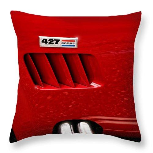 Ac Throw Pillow featuring the photograph 427 Ford Cobra by Gordon Dean II