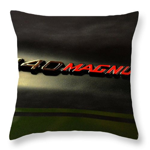 Hot Rod Throw Pillow featuring the photograph 440 Magnum by Newel Hunter