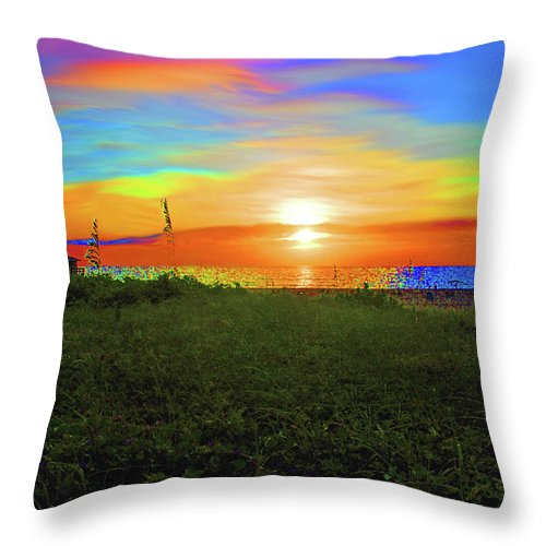 Throw Pillow featuring the photograph 49- Electric Sunrise by Joseph Keane
