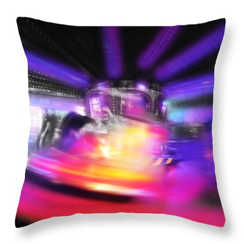 Fun Fair Throw Pillow featuring the digital art Waltzer by Charles Stuart