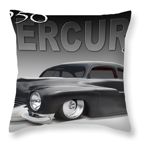 1950 Mercury Coupe Throw Pillow featuring the photograph 50 Mercury Coupe by Mike McGlothlen