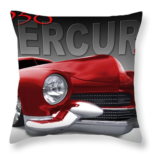 1950 Mercury Coupe Throw Pillow featuring the photograph 50 Mercury Lowrider by Mike McGlothlen