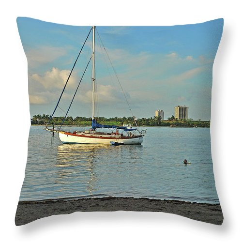Phil Foster Park Throw Pillow featuring the photograph 51- Phil Foster Park-singer Island by Joseph Keane