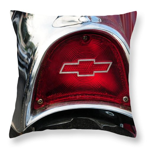 57 Chevy Throw Pillow featuring the photograph 57 Chevy Tail Light by Paul Ward
