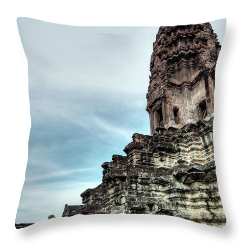 Ancient Throw Pillow featuring the photograph Angkor Wat by MotHaiBaPhoto Prints