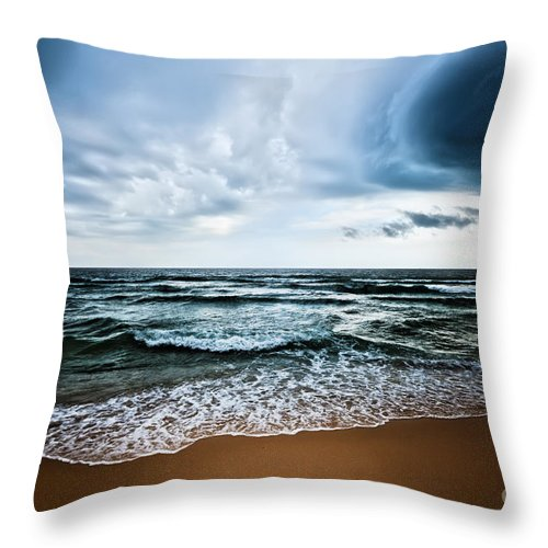 Background Throw Pillow featuring the photograph Beach by MotHaiBaPhoto Prints