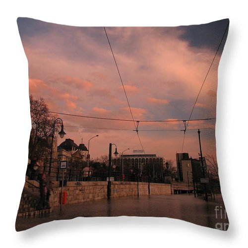 Architecture Throw Pillow featuring the photograph Budapest By Night by Odon Czintos