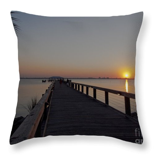 Evening Throw Pillow featuring the photograph Evening On The Indian River Lagoon by Allan Hughes