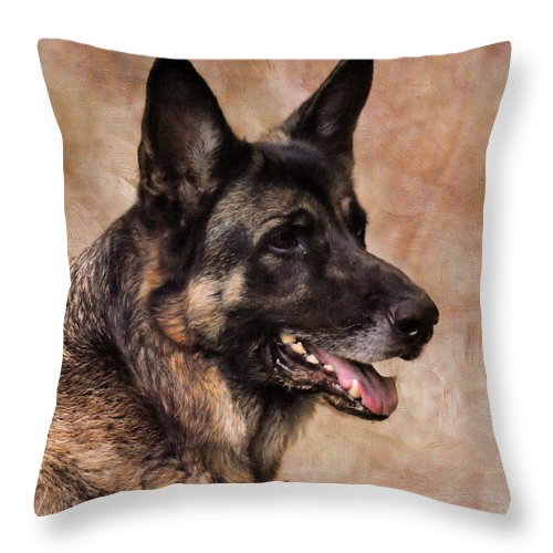 German Throw Pillow featuring the photograph German Shepherd by Jai Johnson