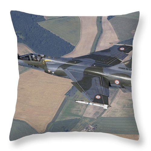 Evreux Throw Pillow featuring the photograph Mirage F1cr Of The French Air Force by Gert Kromhout