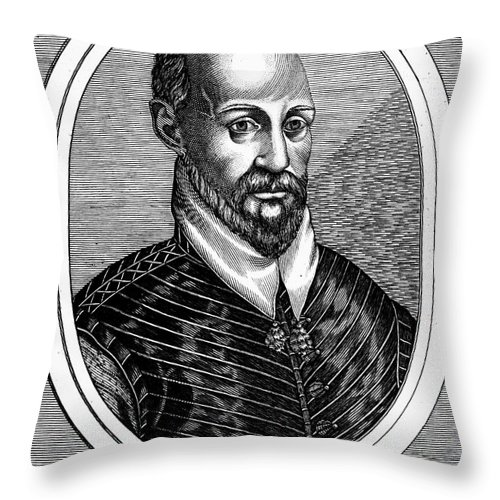 16th Century Throw Pillow featuring the photograph Torquato Tasso (1544-1595) by Granger