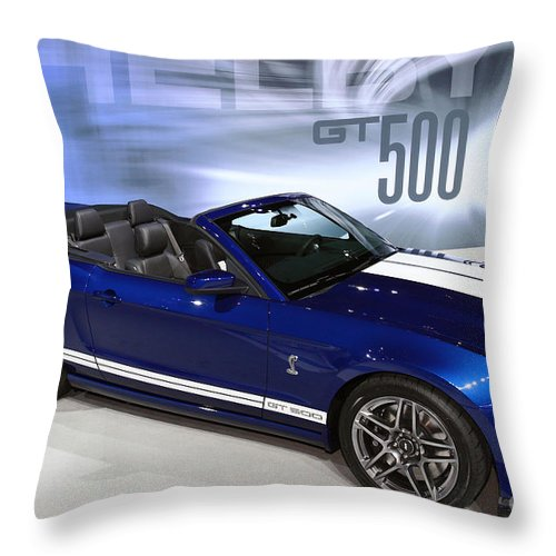 Art Throw Pillow featuring the photograph 650 Horses On 4 Wheels by Alan Look