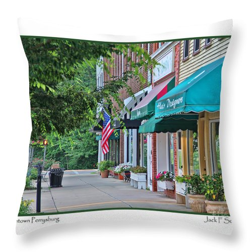 Perrysburg Ohio Throw Pillow featuring the photograph Downtown Perrysburg by Jack Schultz