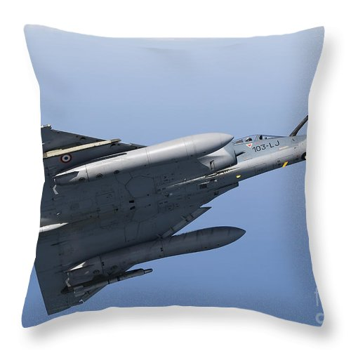 Transportation Throw Pillow featuring the photograph Mirage 2000c Of The French Air Force by Gert Kromhout