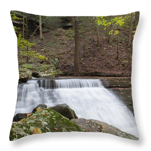 Waterfall Throw Pillow featuring the photograph Waterfall by David Troxel