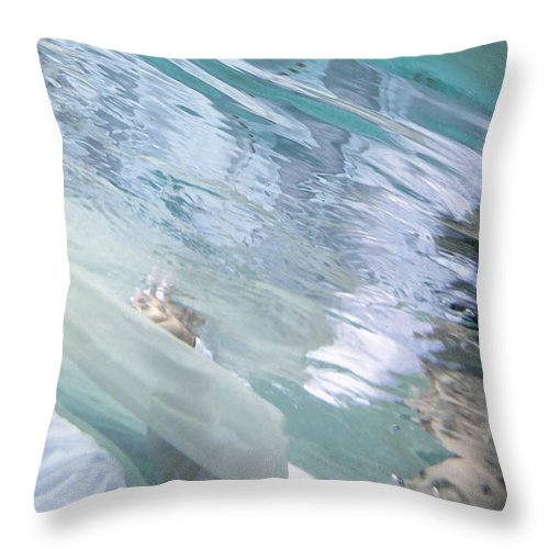 Under Throw Pillow featuring the painting You Are The Ocean And I Am Drowning by Glennis Siverson