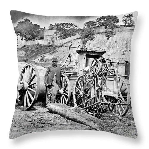1865 Throw Pillow featuring the photograph Civil War: Richmond, 1865 by Granger
