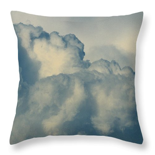 Cumulonimbus Throw Pillow featuring the photograph Cumulonimbus Clouds by One Rude Dawg Orcutt