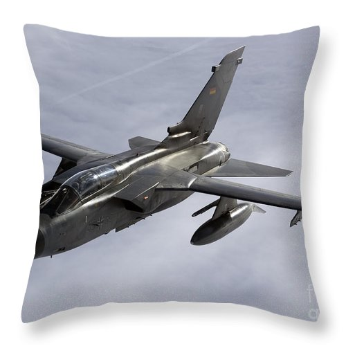Germany Throw Pillow featuring the photograph A Luftwaffe Tornado Ids Over Northern by Gert Kromhout