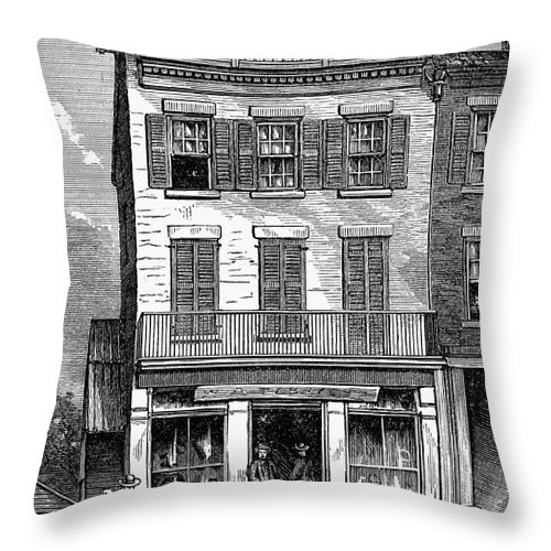 1884 Throw Pillow featuring the photograph Grover Cleveland by Granger