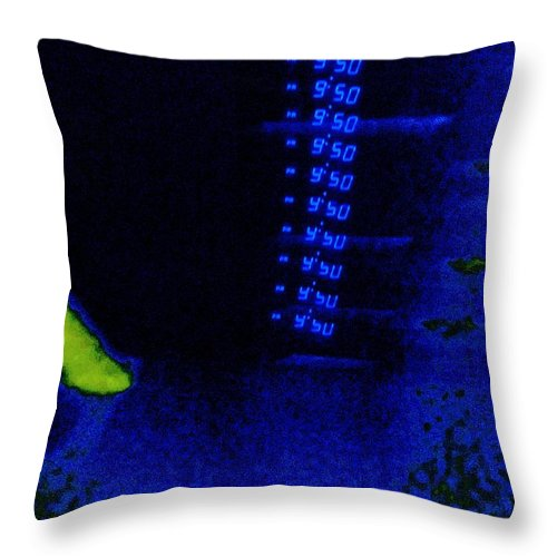 Digital Throw Pillow featuring the digital art 9fifty by Randall Weidner