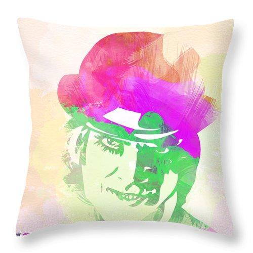 Clockwork Orange Throw Pillow featuring the digital art A Clockwork Orange by Naxart Studio
