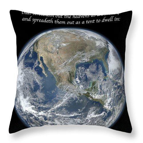 Earth Throw Pillow featuring the photograph A Higher View by Michael Peychich