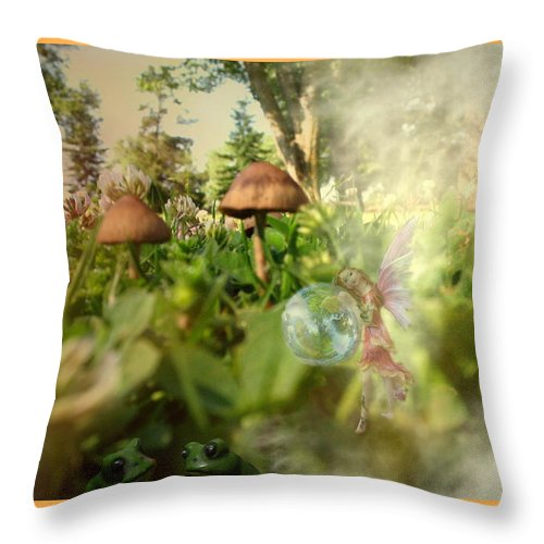 Park Throw Pillow featuring the photograph A Magical Place by Joyce Dickens