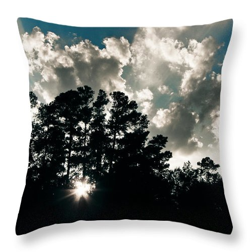Clouds Throw Pillow featuring the photograph A New Day by Jessica Brawley