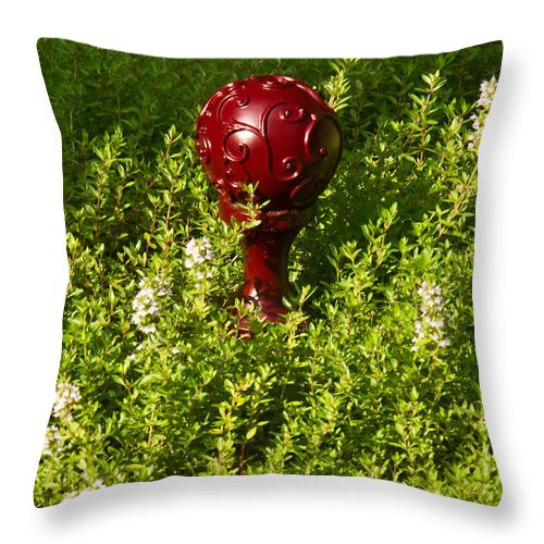 Orb Throw Pillow featuring the photograph A Orb In Thyme by Douglas Barnett