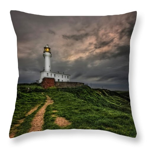 Lighthouse Throw Pillow featuring the photograph A Path To Enlightment by Evelina Kremsdorf