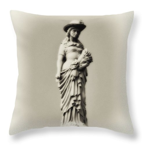 A Proper Woman Throw Pillow featuring the photograph A Proper Woman by Bill Cannon