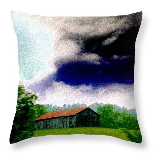 Rural Throw Pillow featuring the photograph A Rainy Afternoon by Nina Fosdick