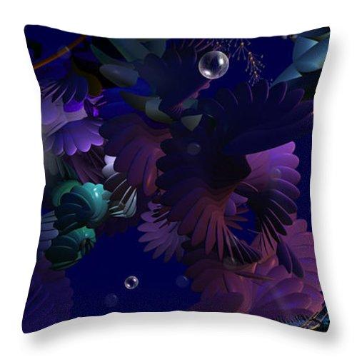 Phil Sadler Traveler Throw Pillow featuring the digital art A Simple Traveler by Phil Sadler