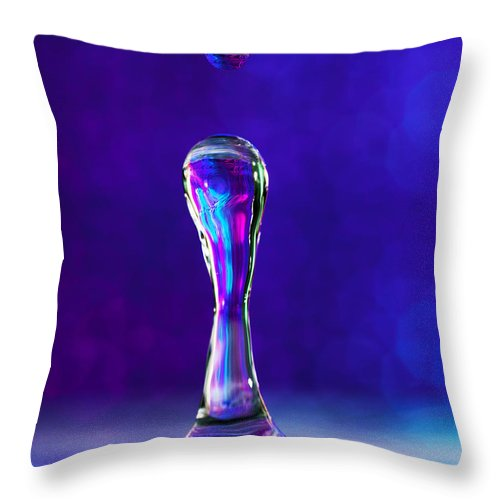 Abstract Throw Pillow featuring the photograph A Splash Of Color by Darren Fisher