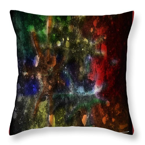 Applause Throw Pillow featuring the digital art A Splatter Of Applause by Michael Hurwitz