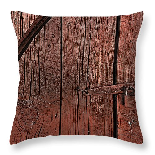 Barn Throw Pillow featuring the photograph A Study In Red by William Fields